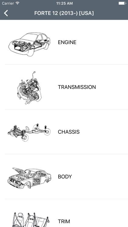 Kia Car Parts - ETK Parts Diagrams