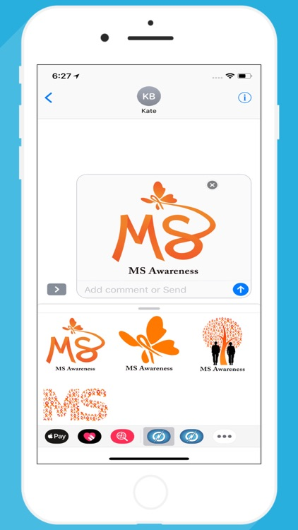 MS Awareness Stickers