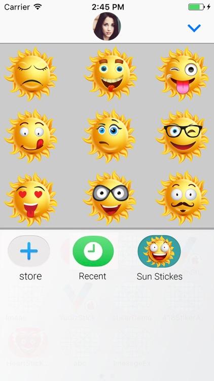 Sun Face : Animated Stickers screenshot-3