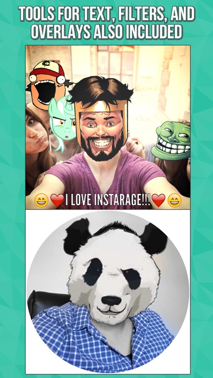 InstaRage - Photo Editor & Meme Rage Face Stickers screenshot-3