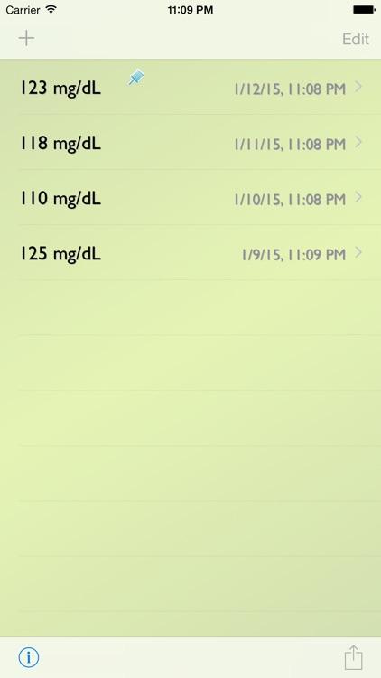 Glucose Recorder w/ Trial