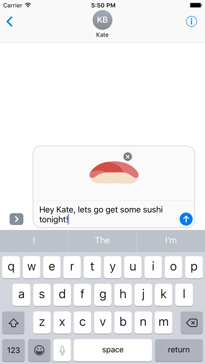 Sushi Sticker Pack for iMessage
