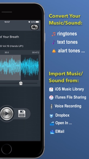 Ringtone Maker:Customize music ring tone,text tone on the