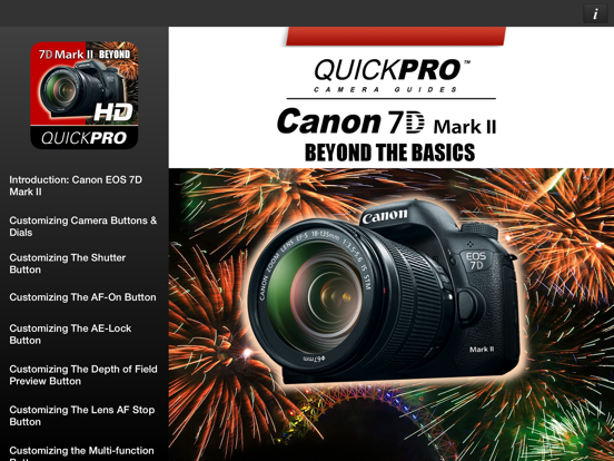 QuickPro Guide for Canon 7D Mark II Advanced HD | App Price Drops