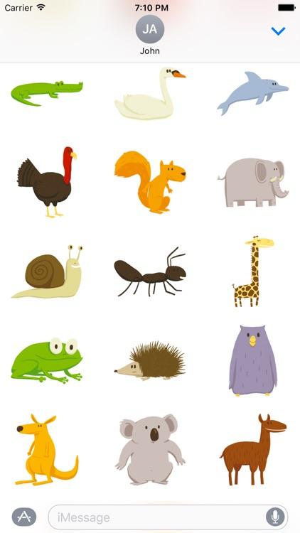 Happy Animals Sticker Pack