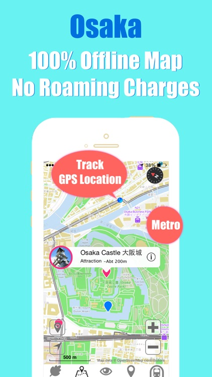 Osaka travel guide with offline map and Kyoto metro transit by BeetleTrip screenshot-3