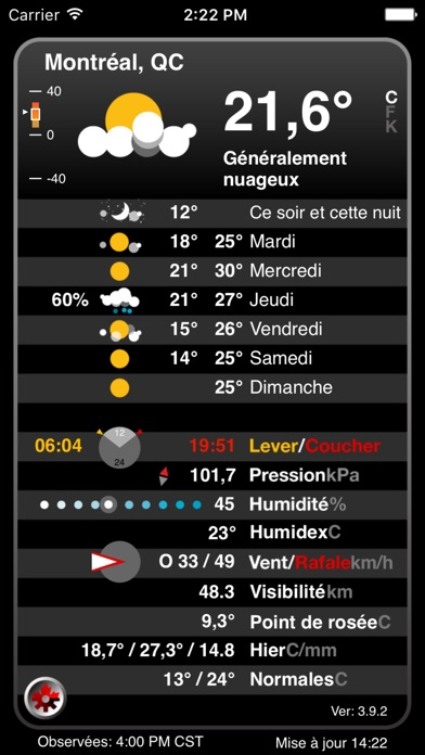 Atmosphrique Pro Canadian Weather From Ec review screenshots