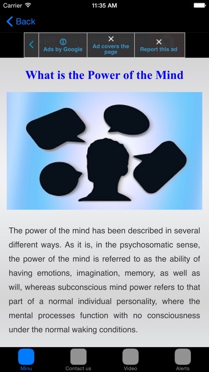 Power of Brain # The Mind Power