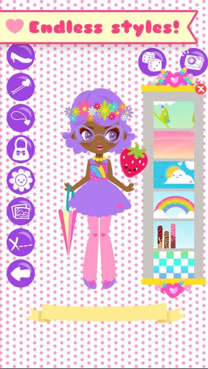 Lil' Cuties Dress Up Game for Girls - Street Fashion Style screenshot-4