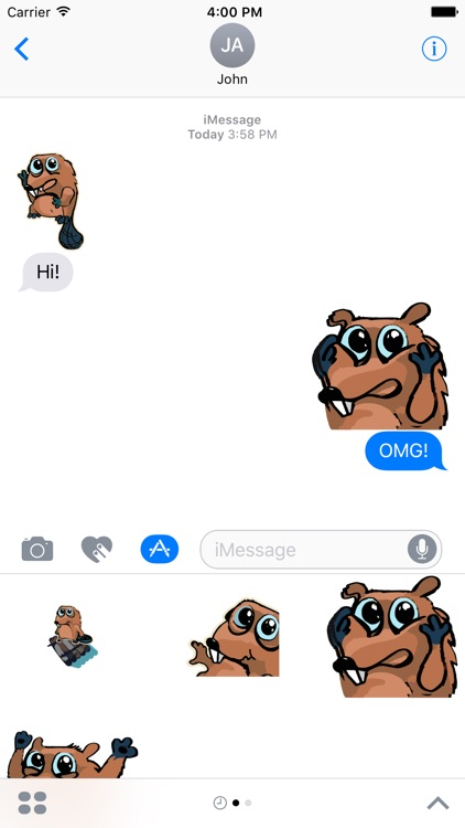 Beaver Time - stickers, emojis, smiles