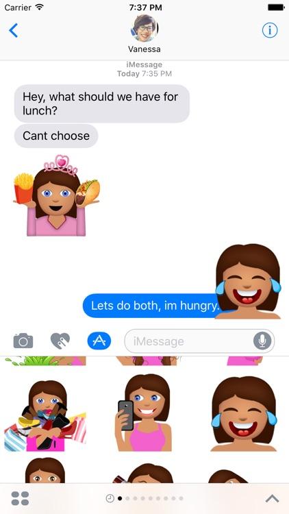 BFF Julia – Fun Girly Emoji