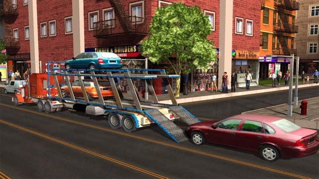 City Car Transport Cargo Trailer Truck On The App Store