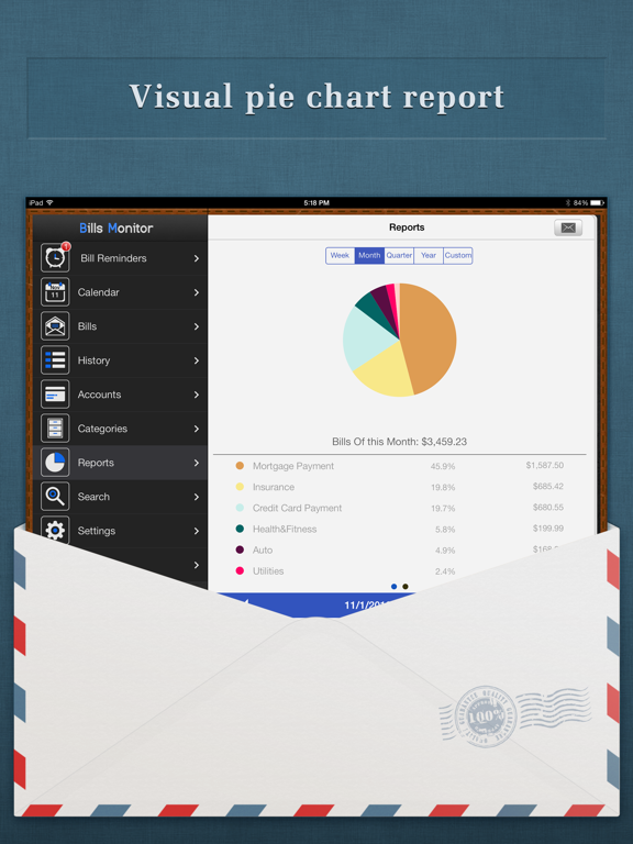 Bills Monitor for iPad - Bill Manager & Reminder screenshot