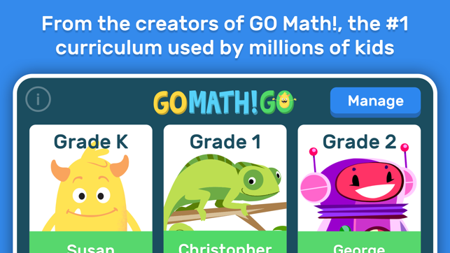 GO Math! GO – Fun learning for grades K, 1st & 2nd on the