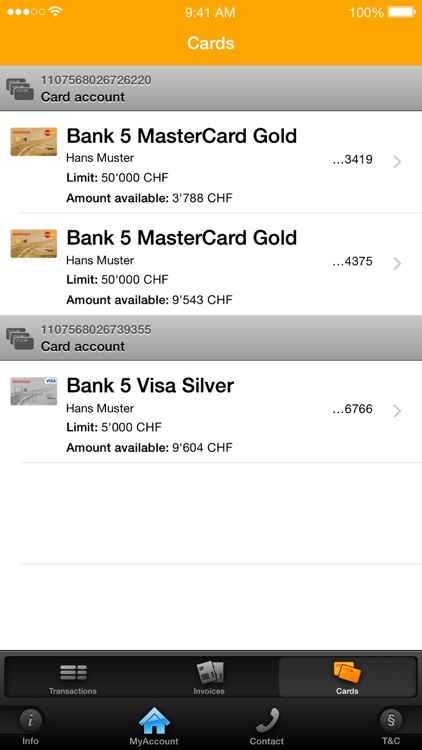 MyAccount Mobile Viseca screenshot-1