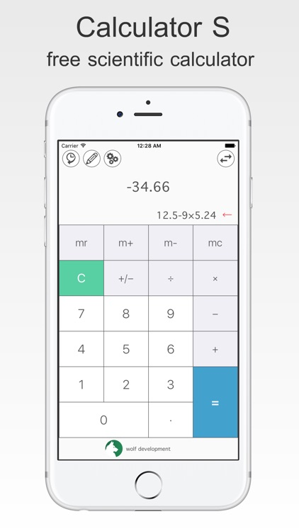 Calculator S - free Scientific Calculator
