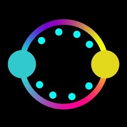 Circle color jump...!