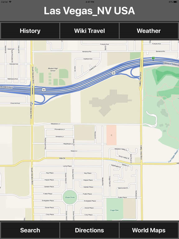 Las Vegas NV USA Travel Map | App Price Drops