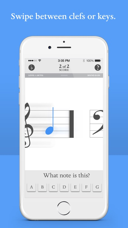 Blue Note: Learn to read music notes - Flash Cards