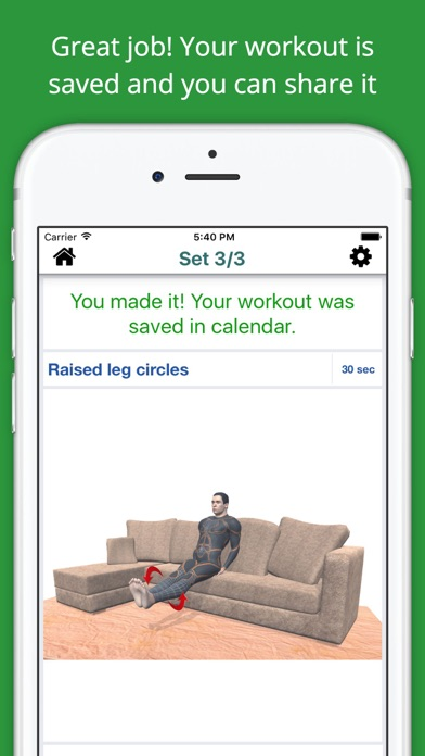 Home Sofa Workout Challenge PRO - Lose Weight screenshot four