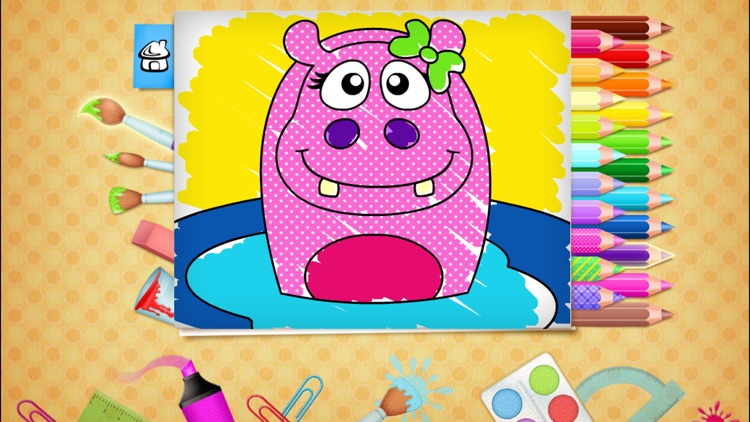 123 Kids Fun COLORING BOOK Outline Drawing Images screenshot-1