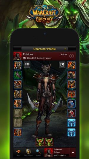 Wow mobile armory on the app store iphone screenshots gumiabroncs Choice Image