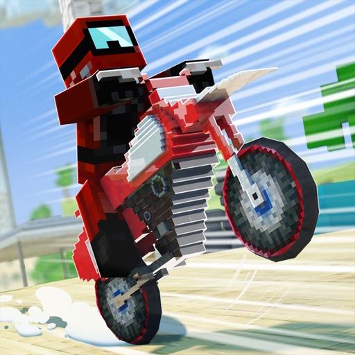 мотокросс майнкрафт: мотоцикл гонки игра для детей