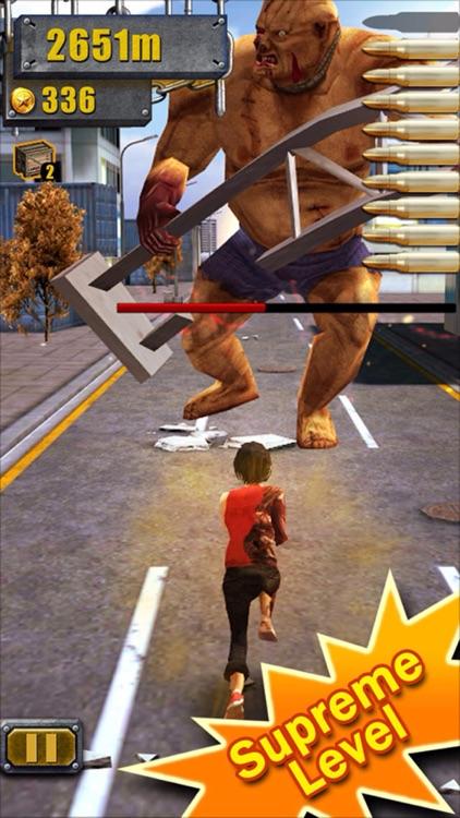 3D City Run Hot-The most classic girl zombie game! screenshot-3