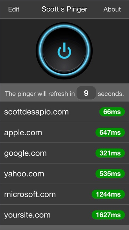 Scott's Pinger - Website Status Monitor
