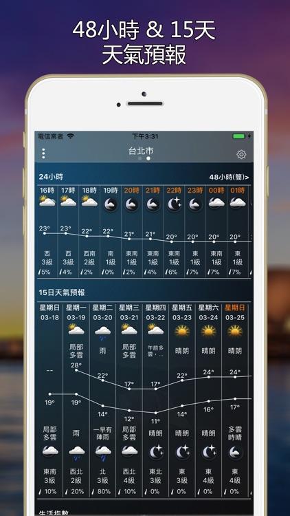 國家天氣-天氣即時預報&15天氣象預報 screenshot-3