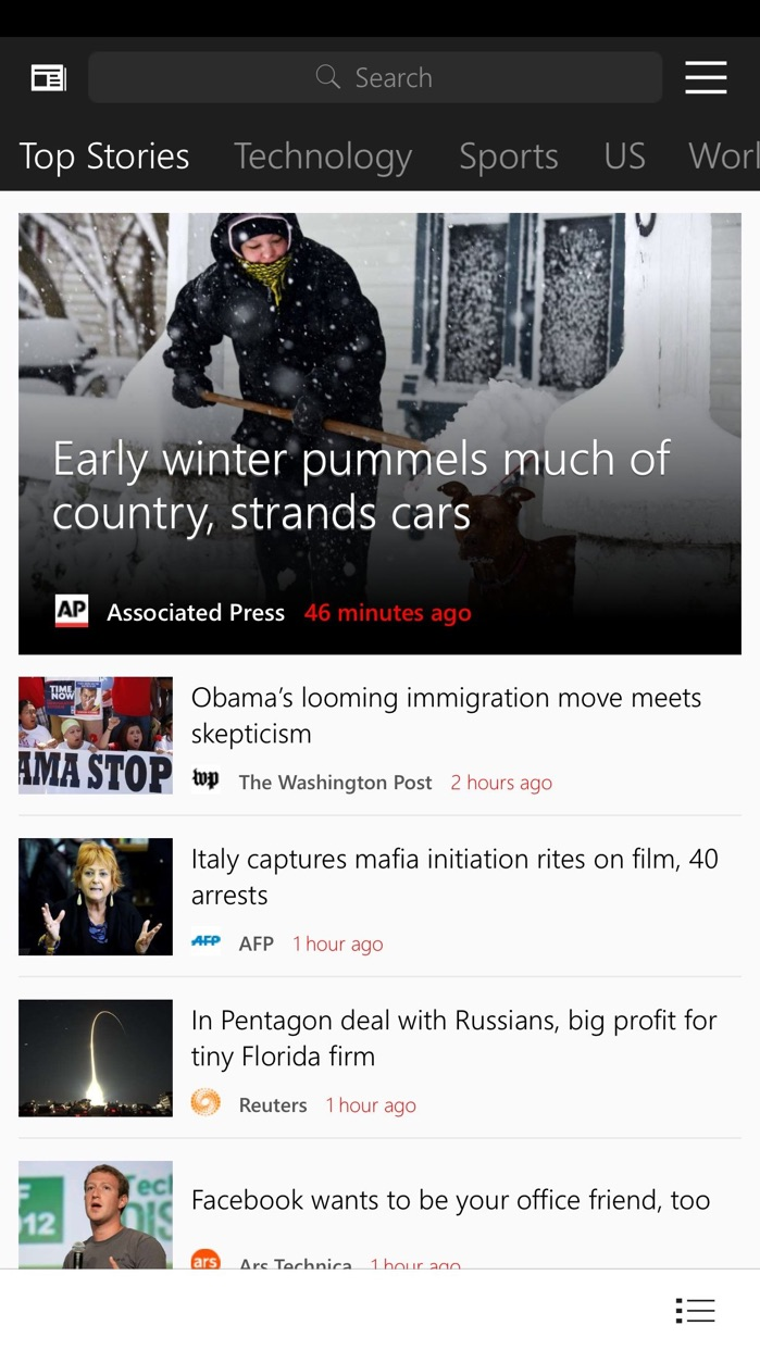 MSN News Screenshot