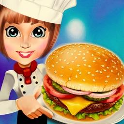 Food Court Hamburger Chef Cooking Burger maker Bar