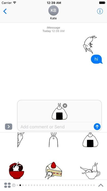 Weird long leg rabbit 2 - Stickers for iMessage