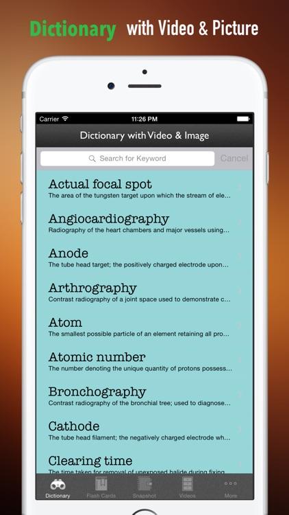 Radiography Glossary and Flashcard,Study Guide screenshot-3