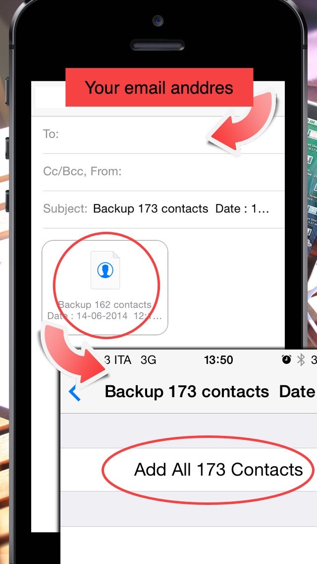 Backup Contacts screenshot1