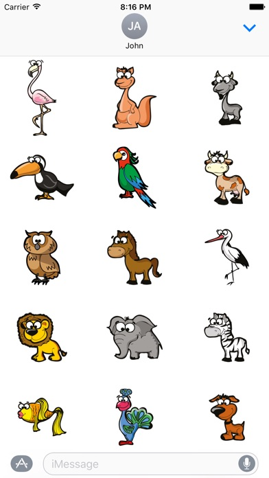 Funny Animal Stickers app image