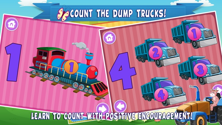 Trucks World Count and Touch- Toddler Counting 123 for Kids