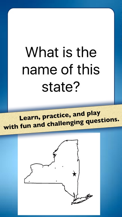US State Shapes Geography Quiz