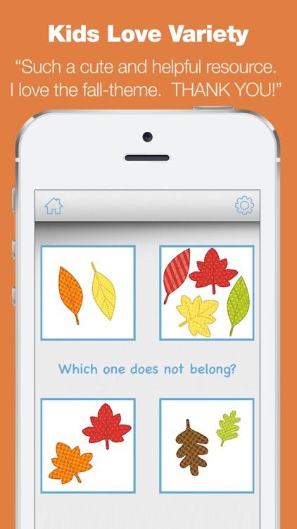 Kindergarten Learning Games - Fall Review App screenshot-4