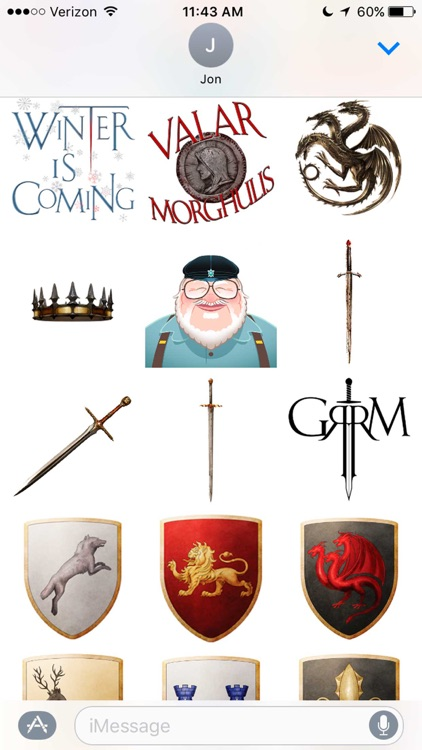 George R. R. Martin Stickers