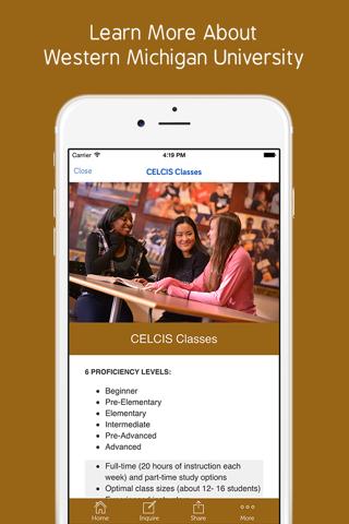 WMICH CELCIS Student App - náhled