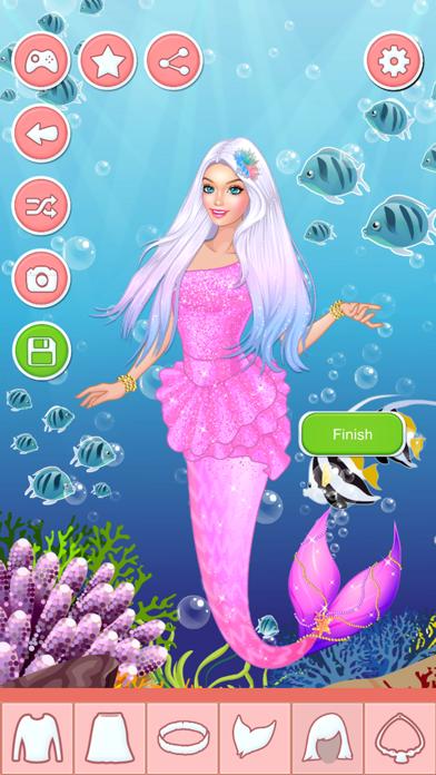 Mermaid Princess Beauty Salon - Dress Up Games Screenshot on iOS
