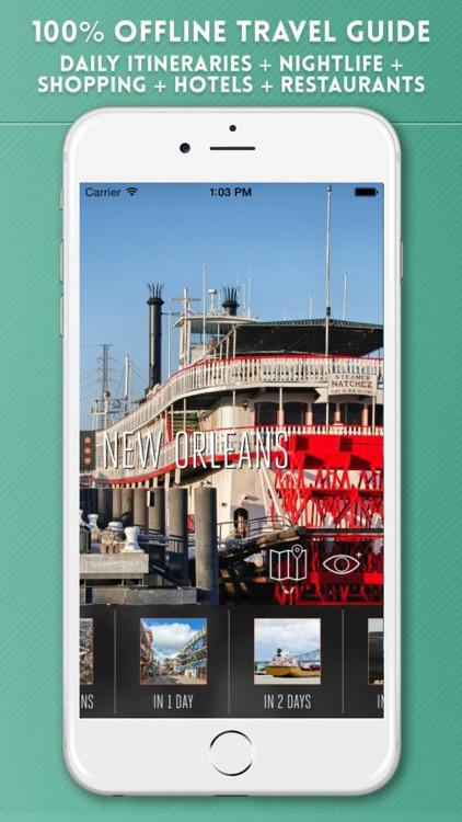New Orleans Travel Guide & Offline City Street Map screenshot-0