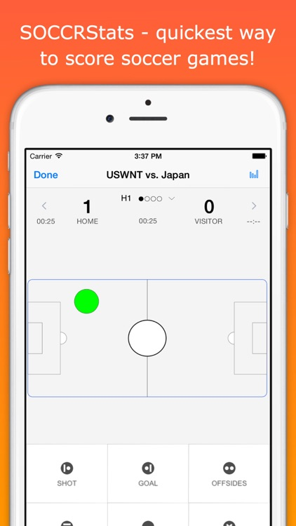 SOCCRStats - soccer live scoring & team stats