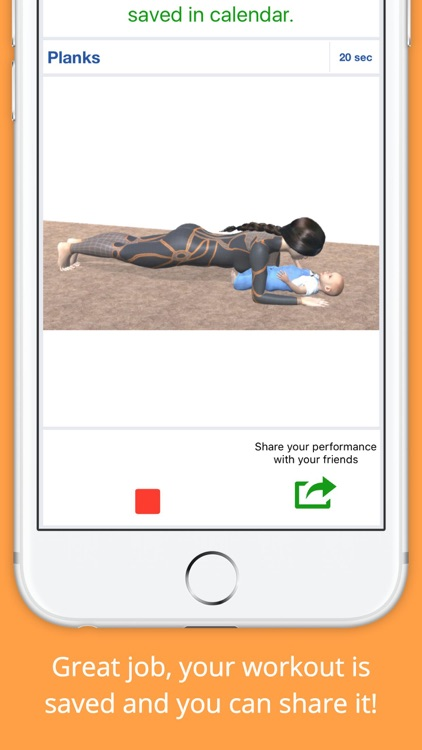 9 Minutes Mom and Baby Workout Challenge PRO screenshot-3