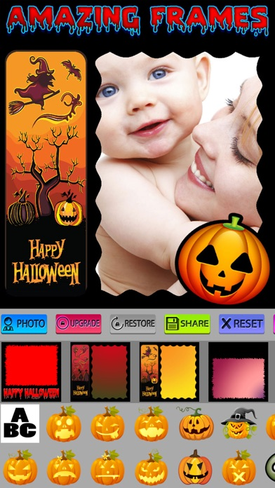 点击获取Halloween Frames and Stickers