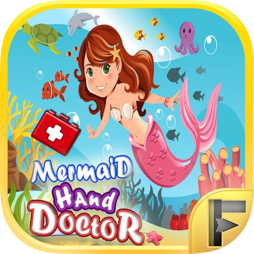 Mermaid Hand Doctor Hospital Little Fantasy Adventure Time - Free Fun Games For Kids & Girls iOS App
