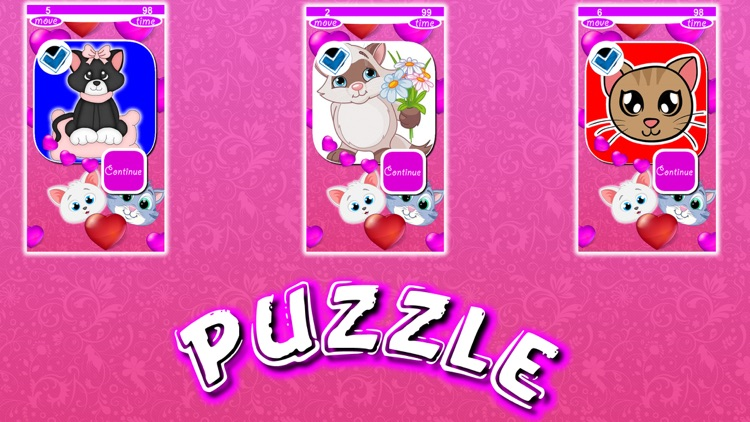 Kitty Puzzles Slide screenshot-4