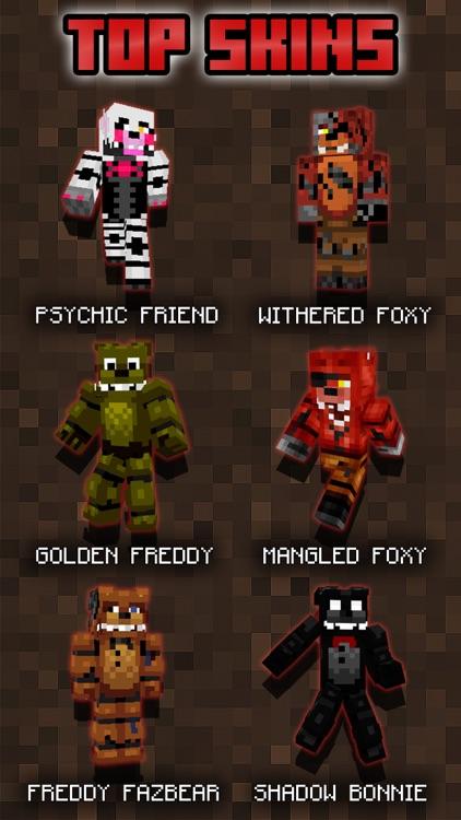 Free FNAF Skins for Minecraft PE (Pocket Edition)
