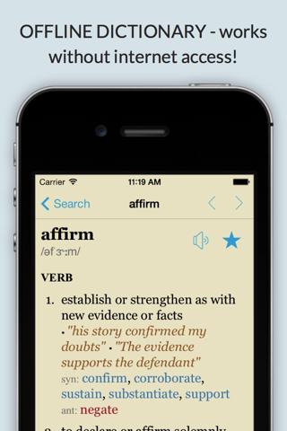 LexicEN English Offline Dictionary Thesaurus Lite screenshot 1